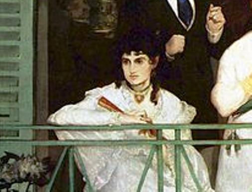 Fragmento de El balcón de Manet