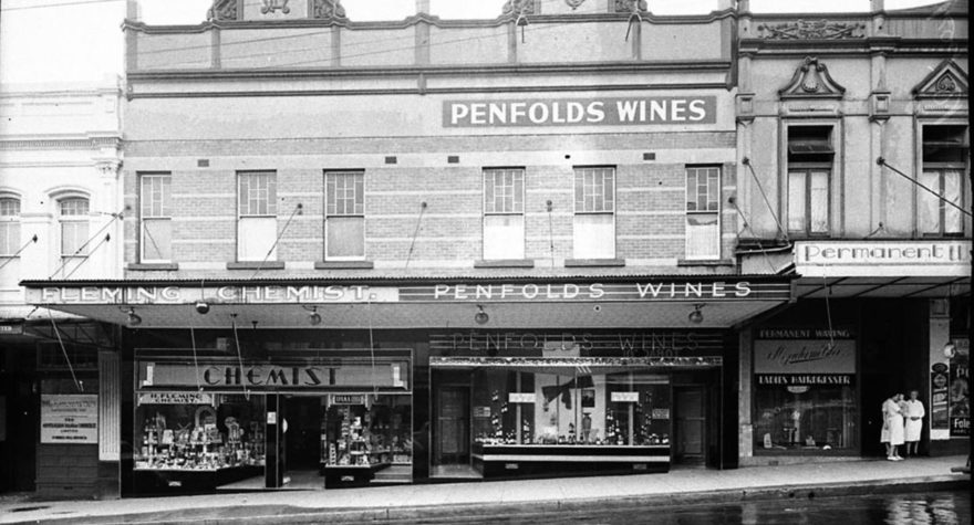 SLNSW_12183_Penfolds_Wines_display_in_shop_windows_of_wine_saloon